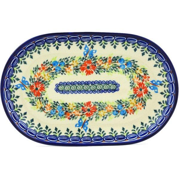 Cornflower and Butterflies Platter by Polmedia
