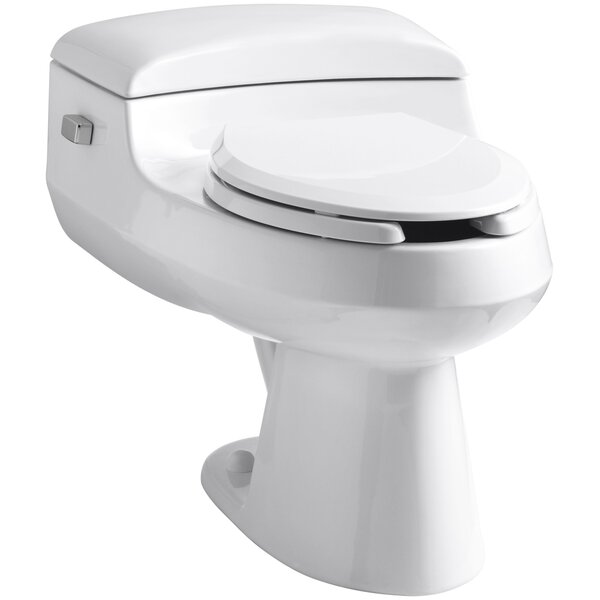 San Raphael Comfort Height One-Piece Elongated 1.0 GPF Toilet with Pressure Lite Flushing Technology, Includes Seat by Kohler
