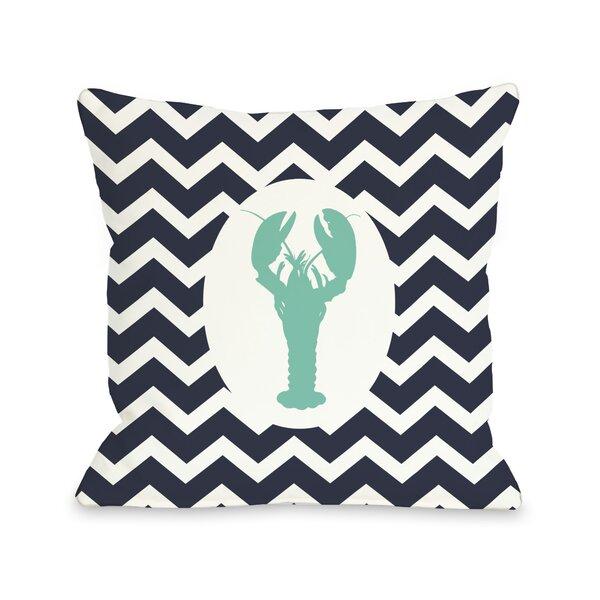 Chevron Lobster Throw Pillow by One Bella Casa