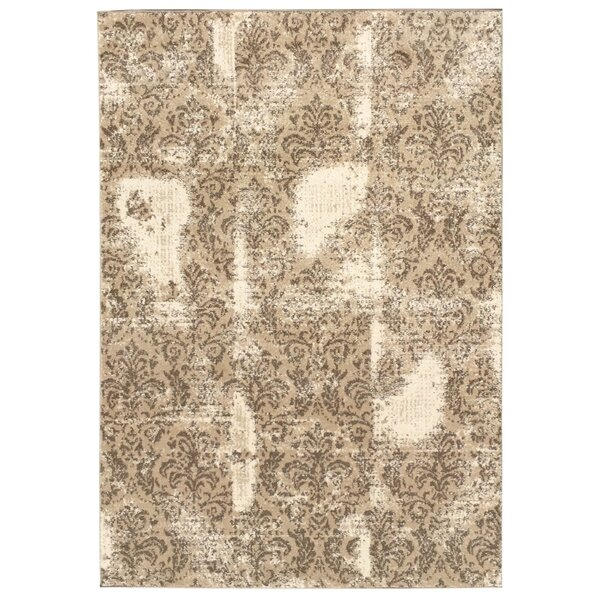 Harvin Cream/Beige Indoor/Outdoor Area Rug by Bungalow Rose