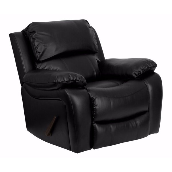 Hardnett Leather Manual Rocker Recliner by Red Barrel Studio