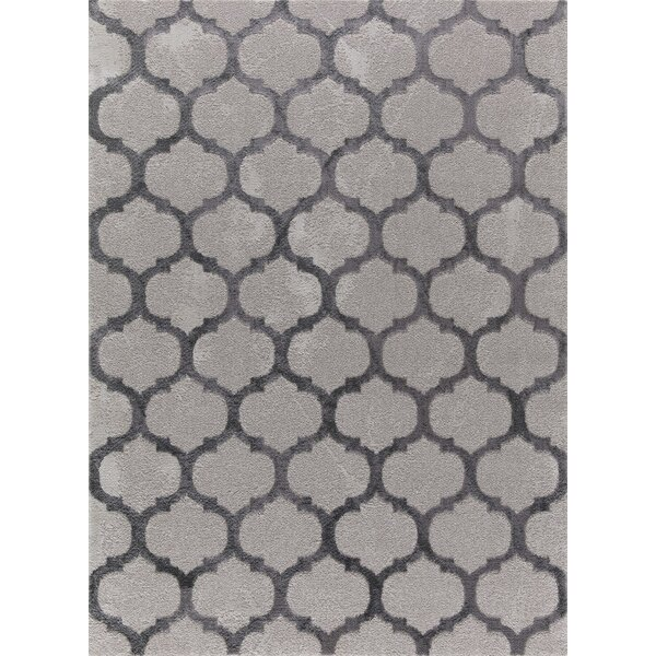 Oswald Gray Area Rug by House of Hampton
