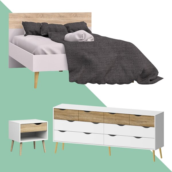 Dowler Queen Platform Configurable Bedroom Set by Hashtag Home Hashtag Home