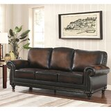 William Leather Sofa by Breakwater Bay
