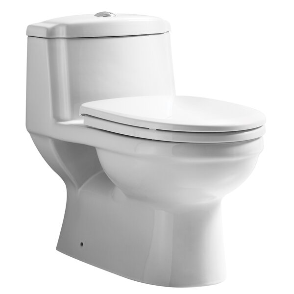 Magicflush Traditional Dual Flush Elongated One-Piece Toilet by Whitehaus Collection