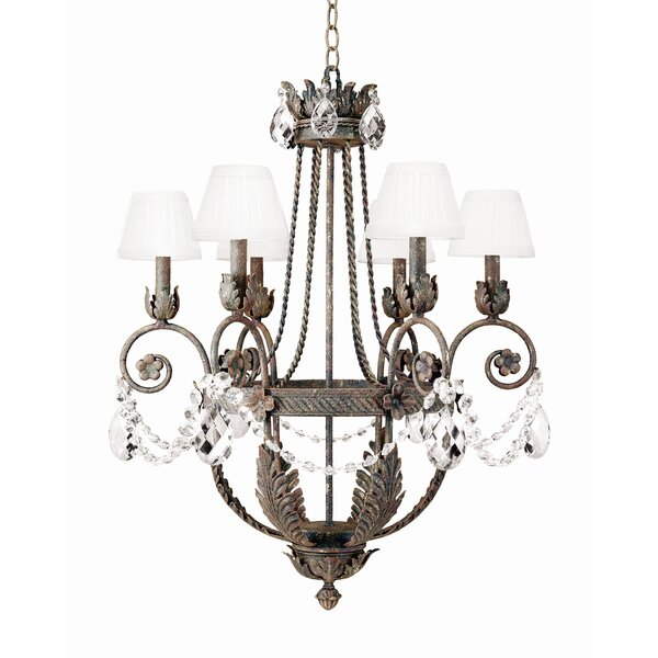Antonia 6-Light Shaded Empire Chandelier by 2nd Ave Design 2nd Ave Design