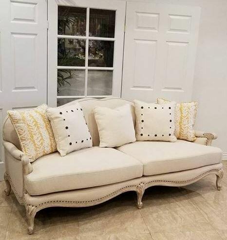 Ava 74-inch Flared Arm Sofa by Benetti's Italia Benetti's Italia