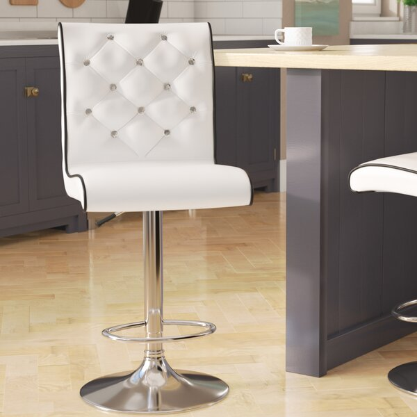 Elkton Adjustable Height Swivel Bar Stool (Set of 2) by Wade Logan