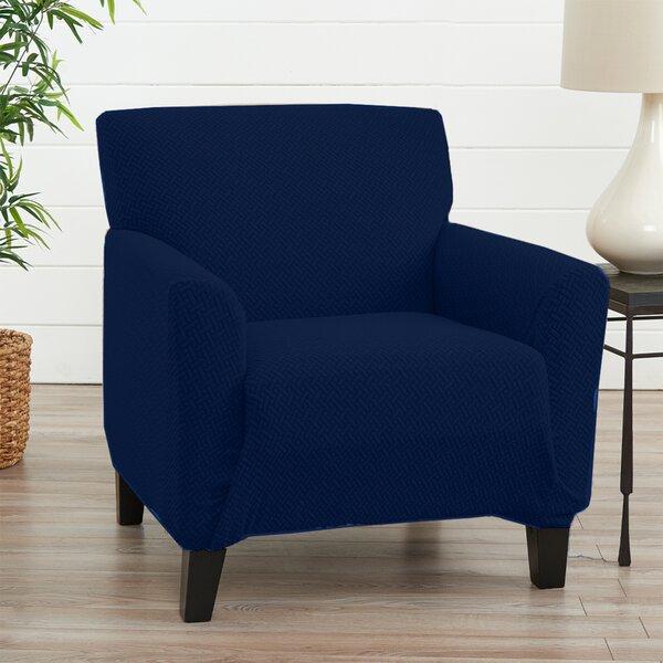 Harlowe Box Cushion Armchair Slipcover By Ebern Designs