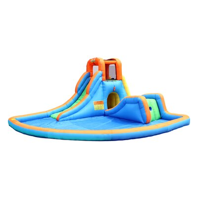 Cascade Inflatable Water Slides with Large Pool Bounceland