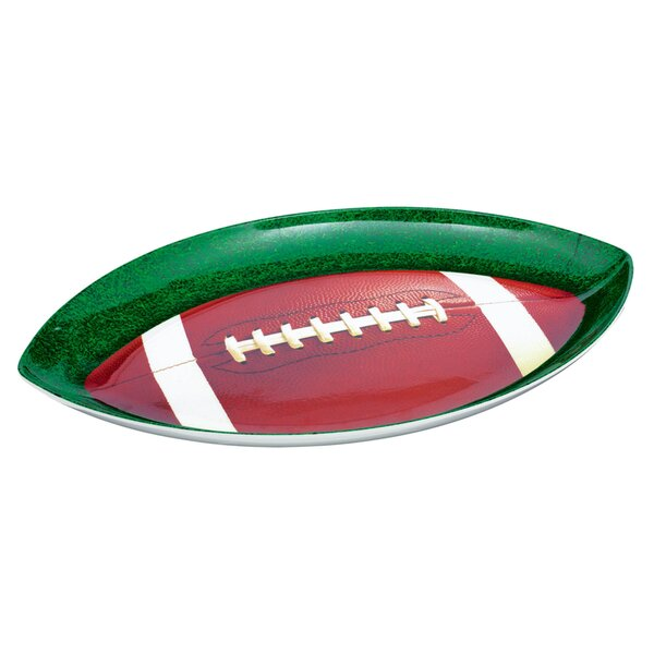 Football Shaped Platter (Set of 2) by Amscan