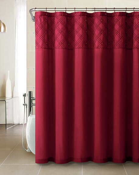 Ila Faux Silk Pearls Shower Curtain by House of Hampton