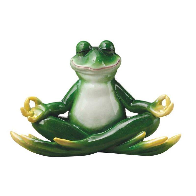 garden frog statue. Garden Division Strike A Pose Zen Yoga Frog Statue
