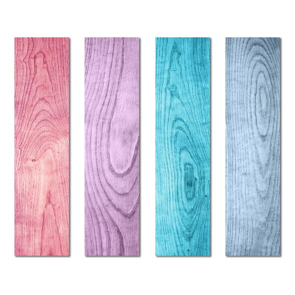 3 x 12 Beveled Glass Subway Tile in Blue/Pink by Upscale Designs by EMA
