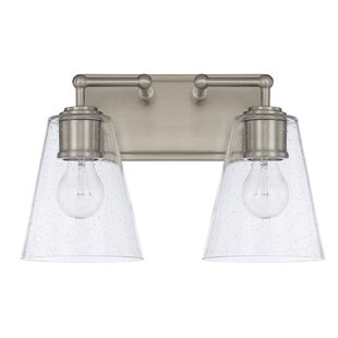 Best Reviews Gallego Contemporary 2-Light Vanity Light By Three Posts