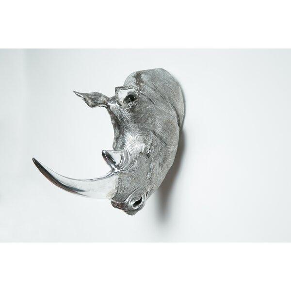 Bloomsbury Market Rhino Head Taxidermy Wall Décor   Wayfair