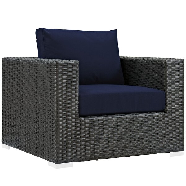 Tripp Outdoor Patio Armchair with Cushion by Brayden Studio