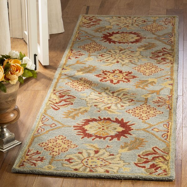 Albrightsville Hand Tufted Wool Charcoal Area Rug by Bloomsbury Market