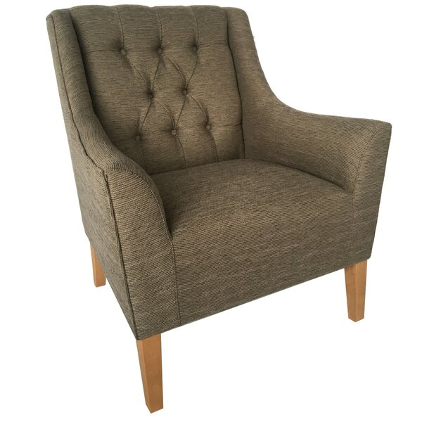 Turrell Upholstered Button Tufted Armchair by Alcott Hill Alcott Hill