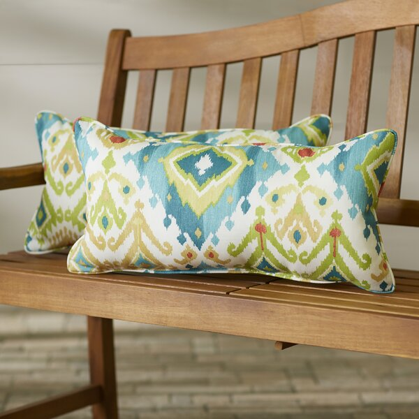 Briget Indoor/Outdoor Lumbar Pillow (Set of 2) by Bungalow Rose