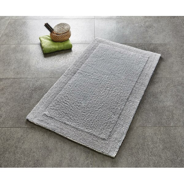 Akayla Rectangle 100% Cotton Reversible Bath Rug
