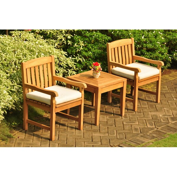 Escondido 3 Piece Teak Seating Group by Rosecliff Heights
