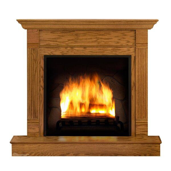 Fireplace Life Size Cardboard Standup by Advanced Graphics