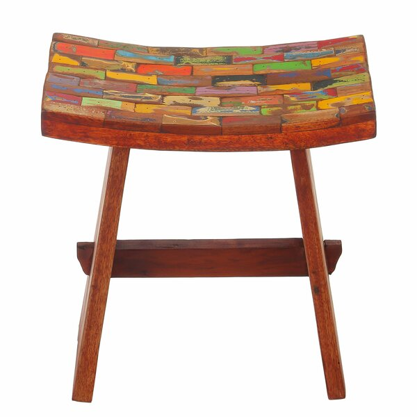Sinead Reclaimed Wood Accent Stool by Bloomsbury Market