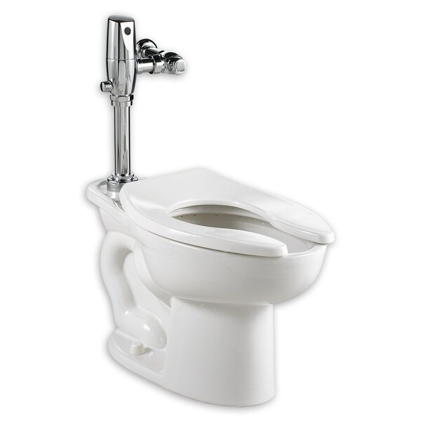 Madera Everclean Dual Flush Valve System Dual Flush Elongated One-Piece Toilet by American Standard