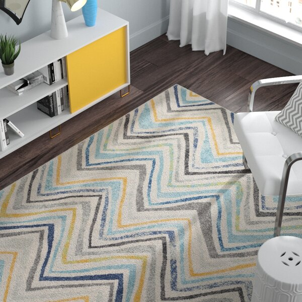 Evangelina Blue/Gray Area Rug by Zipcode Design