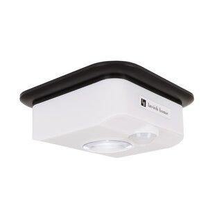 Affordable Price Motion Sensor 1-Light LED Flush Mount By Symple Stuff