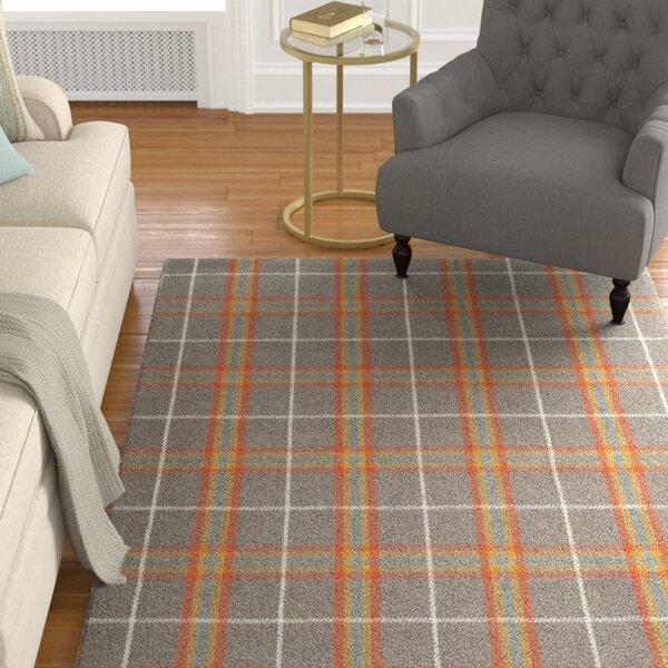 Briarton Hand-Woven Orange/Gray Area Rug by Charlton Home