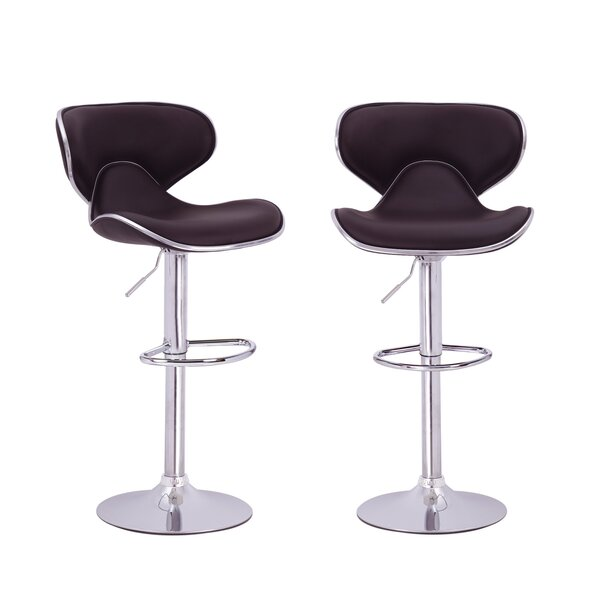 Low Back Adjustable Height Swivel Bar Stool (Set o