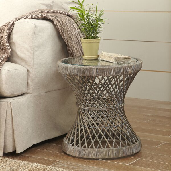 Backman Rattan End Table By Bungalow Rose