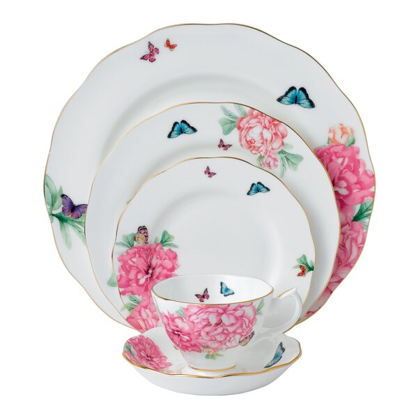 Miranda Kerr Friendship Bone China 5 Piece Place Setting, Service for 1 by Royal Albert