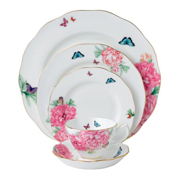 Miranda Kerr Friendship Bone China 5 Piece Place Setting, Service for 1 by Royal Albert