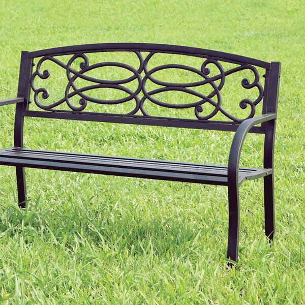 Boyd Steel Garden Bench by August Grove