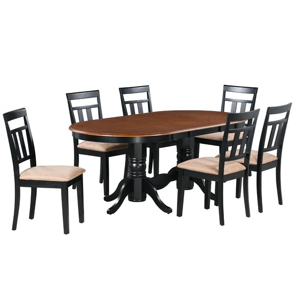 Dahlstrom 7 Piece Solid Wood Dining Set by August Grove August Grove