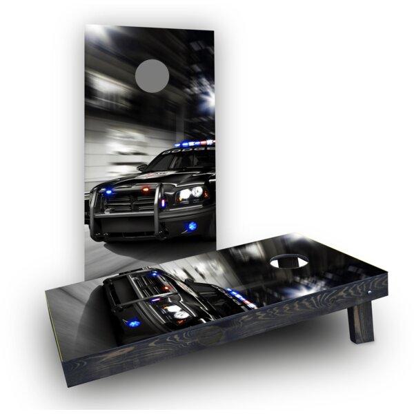 Chasing Cop Car Cornhole Boards (Set of 2) by Custom Cornhole Boards