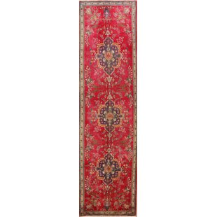 One-of-a-Kind Floral Tabriz Persian Beige/Ivory Area Rug by Isabelline