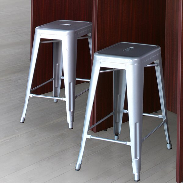 Bizzell Accent Stool (Set of 4) by Orren Ellis