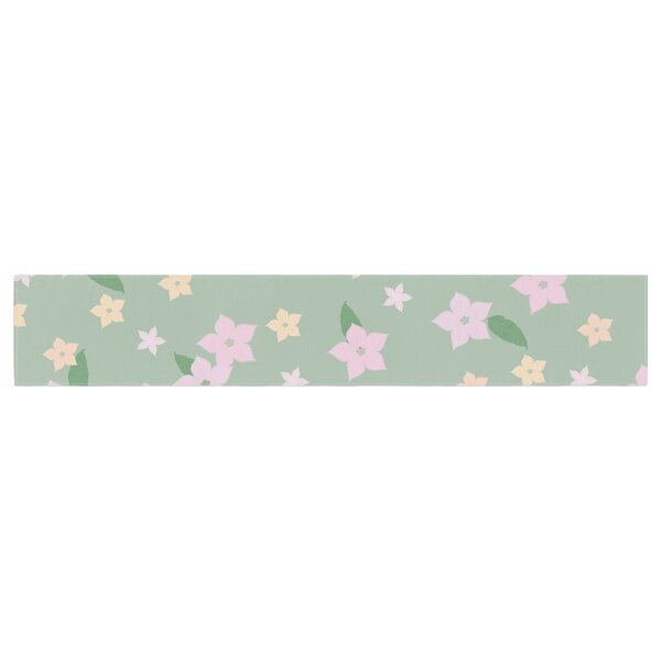 Spring Floral Table Runner by East Urban Home