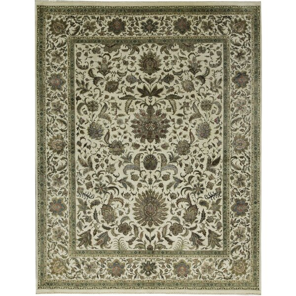 One-of-a-Kind Chantel Hand-Knotted Beige/Brown 11'9 x 14'10 Area Rug