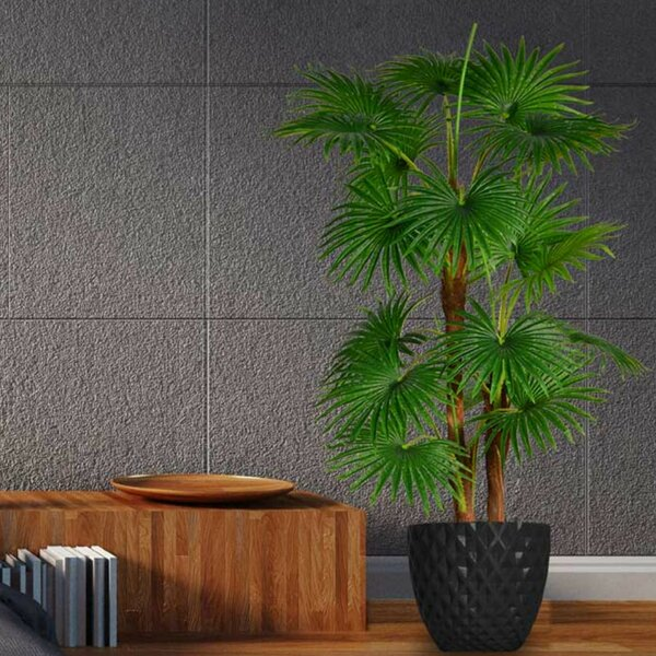 Artificial Indoor/Outdoor Décor Floor Palm Tree in Planter by Brayden Studio