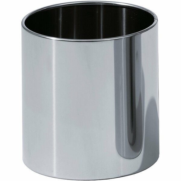 Round Top Stainless Steel Open Waste Basket by AGM Home Store