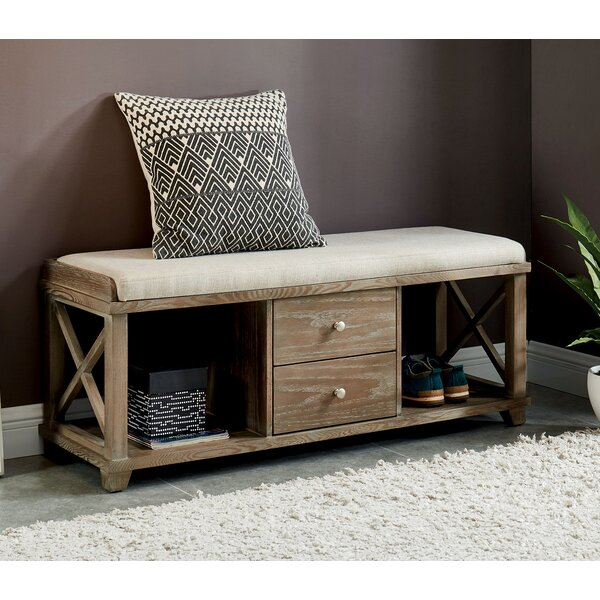 Reedsburg Wood Storage Bench by Gracie Oaks