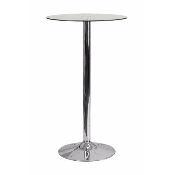 Delora Round Glass Pub Table by Orren Ellis