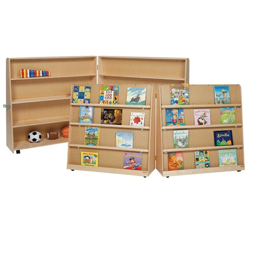 Folding Book Display with Casters by Wood Designs