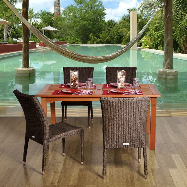 Fairbanks International Home Outdoor 5 Piece Dining Set by Bayou Breeze
