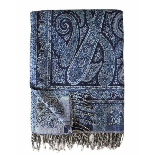 Jacquard Paisley Cotton Throw by Melange Home